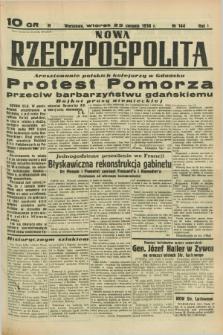 Nowa Rzeczpospolita. R.1, nr 144 (23 sierpnia 1938)