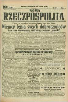 Nowa Rzeczpospolita. R.1, nr 147 (27 sierpnia 1938)