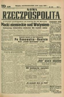 Nowa Rzeczpospolita. R.1, nr 149 (29 sierpnia 1938)