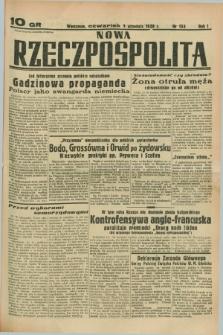 Nowa Rzeczpospolita. R.1, nr 153 (1 września 1938)