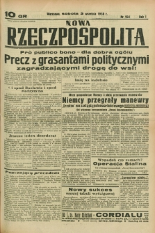 Nowa Rzeczpospolita. R.1, nr 154 (3 września 1938)