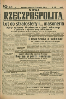 Nowa Rzeczpospolita. R.1, nr 156 (3 września 1938)