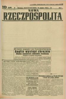 Nowa Rzeczpospolita. R.1, nr 158 (5 września 1938) drugi nakład po konfiskacie