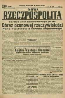 Nowa Rzeczpospolita. R.1, nr 158 (6 września 1938)