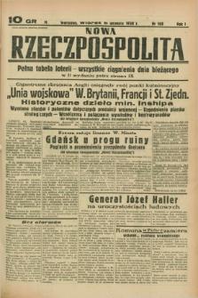 Nowa Rzeczpospolita. R.1, nr 160 (6 września 1938)