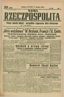 Nowa Rzeczpospolita. R.1, nr 160 (7 września 1938)