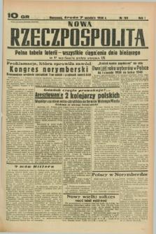 Nowa Rzeczpospolita. R.1, nr 161 (7 września 1938)
