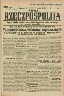 Nowa Rzeczpospolita. R.1, nr 162 (8 września 1938) drugi nakład po konfiskacie