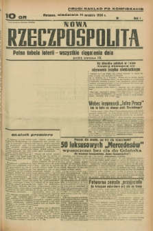 Nowa Rzeczpospolita. R.1, nr 165 (11 września 1938) drugi nakład po konfiskacie