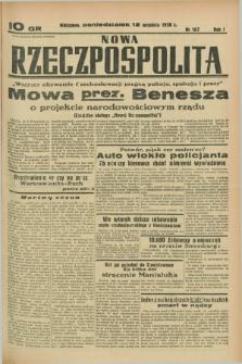 Nowa Rzeczpospolita. R.1, nr 167 (12 września 1938)