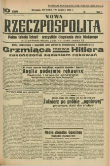 Nowa Rzeczpospolita. R.1, nr 169 (14 września 1938) drugi nakład po konfiskacie