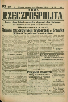Nowa Rzeczpospolita. R.1, nr 172 (15 września 1938)
