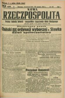 Nowa Rzeczpospolita. R.1, nr 172 (15 września 1938) wydanie II