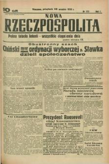 Nowa Rzeczpospolita. R.1, nr 172 (16 września 1938)