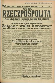 Nowa Rzeczpospolita. R.1, nr 174 (17 września 1938) drugi nakład po konfiskacie