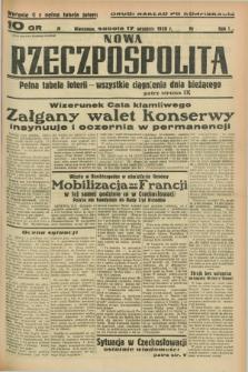 Nowa Rzeczpospolita. R.1, nr 174 (17 września 1938) drugi nakład po konfiskacie : wydanie II