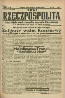 Nowa Rzeczpospolita. R.1, nr 174 (17 września 1938)