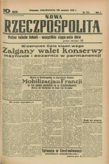 Nowa Rzeczpospolita. R.1, nr 174 (18 września 1938)