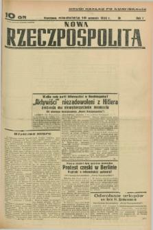 Nowa Rzeczpospolita. R.1, nr 176 (18 września 1938) drugi nakład po konfiskacie