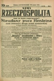 Nowa Rzeczpospolita. R.1, nr 176 (19 września 1938)