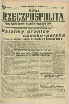 Nowa Rzeczpospolita. R.1, nr 179 (21 września 1938)