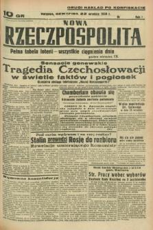 Nowa Rzeczpospolita. R.1, nr 180 (22 września 1938) drugi nakład po konfiskacie