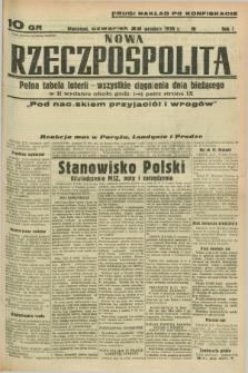 Nowa Rzeczpospolita. R.1, nr 182 (22 września 1938) drugi nakład po konfiskacie