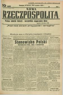 Nowa Rzeczpospolita. R.1, nr 182 (23 września 1938) drugi nakład po konfiskacie