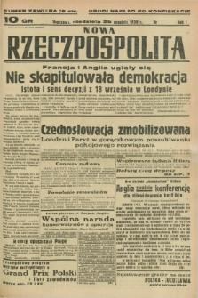 Nowa Rzeczpospolita. R.1, nr [186] (25 września 1938) drugi nakład po konfiskacie