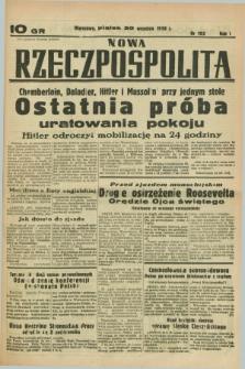 Nowa Rzeczpospolita. R.1, nr 193 (30 września 1938)