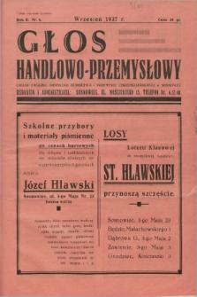 Głos Handlowo - Przemysłowy : organ Związku Drobnego Kupiectwa i Przemysłu Chrześcijańskiego w Sosnowcu. R.2, nr 8 (wrzesień 1937)