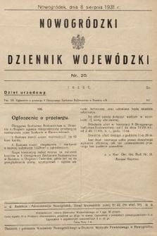 Nowogródzki Dziennik Wojewódzki. 1931, nr20