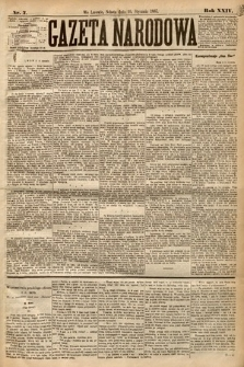 Gazeta Narodowa. 1885, nr7