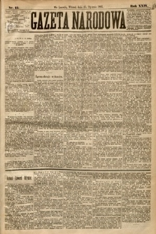 Gazeta Narodowa. 1885, nr15