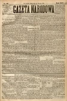 Gazeta Narodowa. 1885, nr19