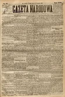 Gazeta Narodowa. 1885, nr21