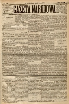 Gazeta Narodowa. 1885, nr29