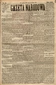 Gazeta Narodowa. 1885, nr42
