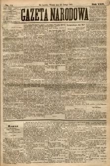 Gazeta Narodowa. 1885, nr44