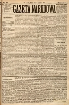 Gazeta Narodowa. 1885, nr77