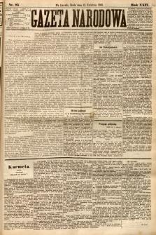 Gazeta Narodowa. 1885, nr85