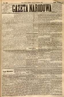 Gazeta Narodowa. 1885, nr89