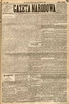 Gazeta Narodowa. 1885, nr90