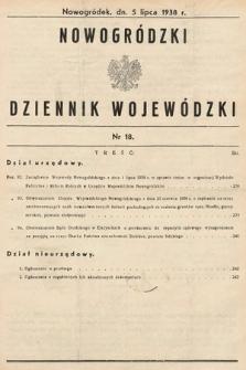 Nowogródzki Dziennik Wojewódzki. 1938, nr18