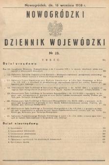 Nowogródzki Dziennik Wojewódzki. 1938, nr23