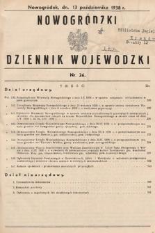 Nowogródzki Dziennik Wojewódzki. 1938, nr26
