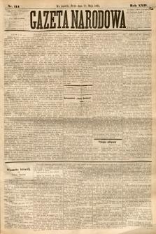 Gazeta Narodowa. 1885, nr114