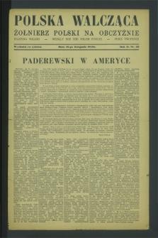 Polska Walcząca - Żołnierz Polski na Obczyźnie = Fighting Poland : weekly for the Polish Forces. R.2, nr 36 16 listopada (1940)
