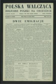 Polska Walcząca - Żołnierz Polski na Obczyźnie = Fighting Poland : weekly for the Polish Forces. R.6, nr 39 (30 września 1944)