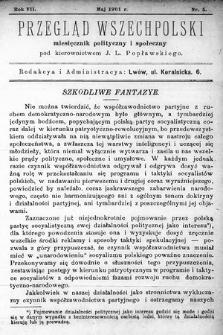 Przegląd Wszechpolski : miesięcznik polityczny ispołeczny. 1901, nr5